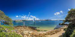 Views of Sydney Harbour from Bradleys Head, Mosman.